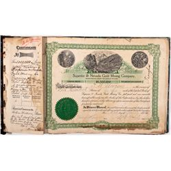 Mining Stock Certificates Book NV - Searchlight,Clark County - 1906 - 2012aug - General Americana