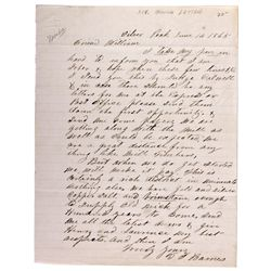 Silver Peak Nevada Letter NV - Silver Peak,Esmeralda County - 1865 - 2012aug - General Americana