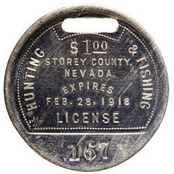 Storey County Hunting & Fishing License NV - Storey County, - 1918 - 2012aug - General Americana
