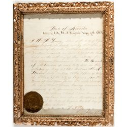 1868 Chief of Police Proclamation NV - Virginia City,2012aug - General Americana