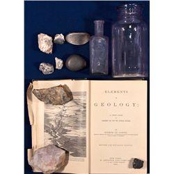 Bottles, Mining Specimens, Geology Book NV - Virginia City,Storey County - 1890 - 2012aug - General