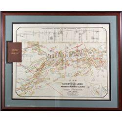 Comstock Mines Map NV - Virginia City,Storey County - 1875 - 2012aug - General Americana