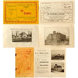 Early Century Carnival Programs NV - Virginia City,Storey County - 1903 - 2012aug - General American