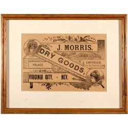 Framed Grocer Advertisement NV - Virginia City,Storey County - 2012aug - General Americana