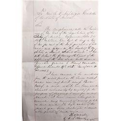 H. VanSickle  Letter NV - Virginia City,Storey County - 2012aug - General Americana
