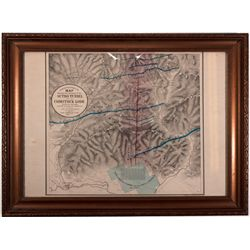 Map of Sutro Tunnel NV - Virginia City,Storey County - 1866 - 2012aug - General Americana