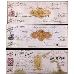 Purple Nevada Imprinted Chollar Potosi Revenue Stamps NV - Virginia City,Storey County - 1870 - 2012