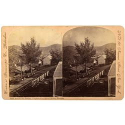 Rare Virginia City Stereo View Card NV - Virginia City,Storey County - c1870-1890 - 2012aug - Genera