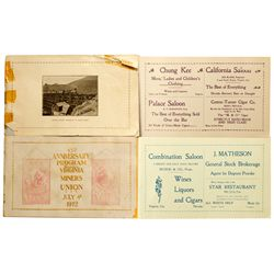 VC Miners' Anniversary Booklets NV - Virginia City,Storey County - 1912 - 2012aug - General American