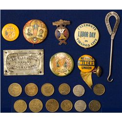 Virginia City Buttons and Tokens NV - Virginia City,Storey County - 1908 - 2012aug - General America