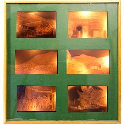 Virginia City Glass Negatives in Lightbox Frame NV - Virginia City,Storey County - c1890 - 2012aug -