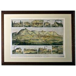 Virginia City Watercolor Print NV - Virginia City,Storey County - c1935 - 2012aug - General American