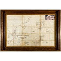 Spruce Mountain Mining District Map NV - Wells,Elko County - c1901 - 2012aug - General Americana