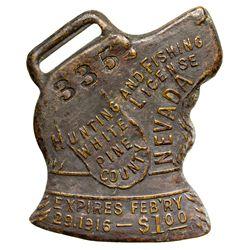White Pine Hunting License NV - White Pine County,1916 - 2012aug - General Americana