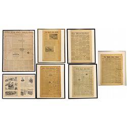 White Pine Newspaper Group Framed NV - White Pine County,1869, 1871, 1875, 1879 - 2012aug - General