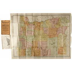 Oregon Pocket Map OR - 1910 - 2012aug - General Americana