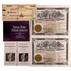 Silver King Mining Company Group and Rogue River Stock OR - Elkhorn,Marion County - 1910 - 2012aug -