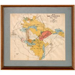 Framed Lithograph of the San Francisco Mining District  Lithograph of the San Francisco Mining Distr