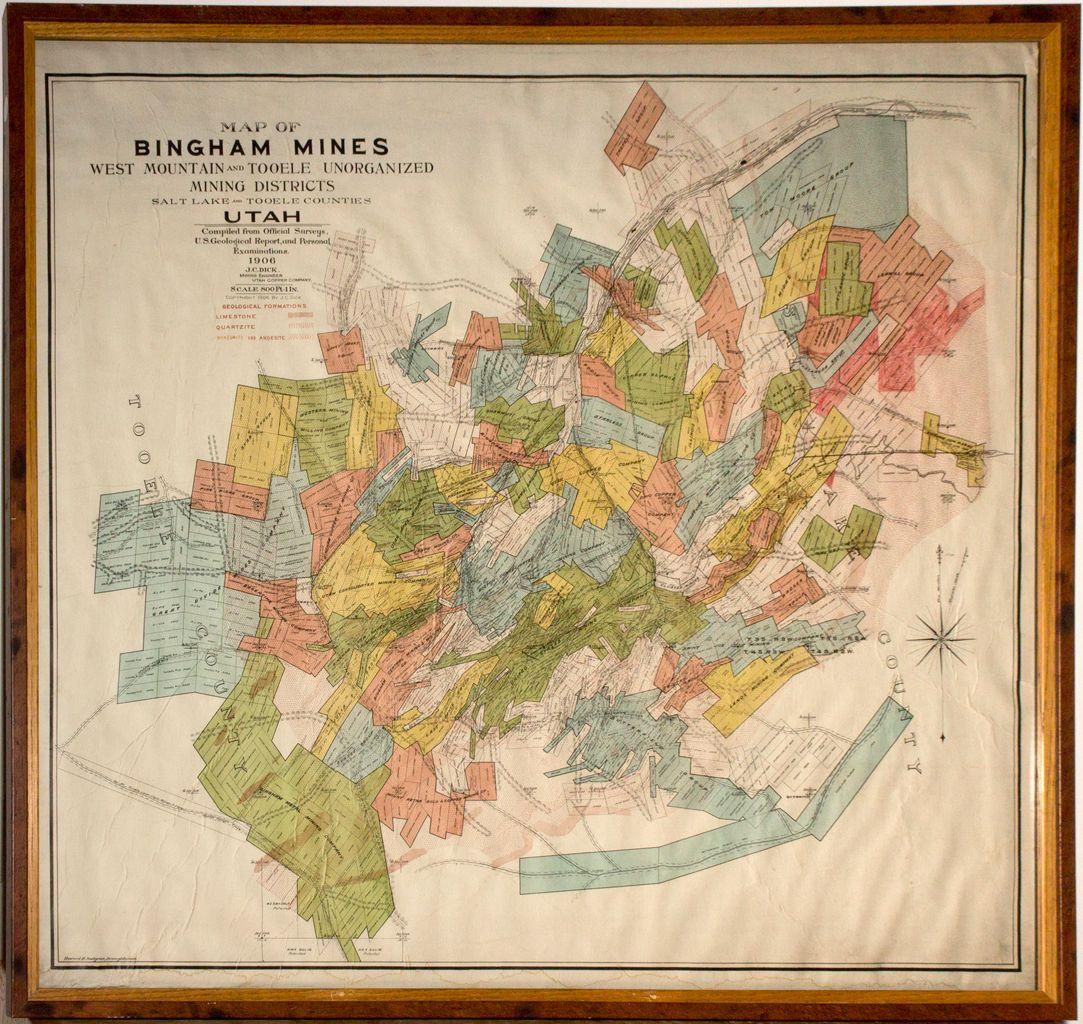 Bingham Mines Map Ut Salt Lake City 1906 2012aug General - Us-salt-mines-map