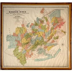 Bingham Mines Map UT - Salt Lake City, - 1906 - 2012aug - General Americana