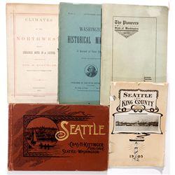 Washington & Pacific Northwest Books Assortment WA - Seattle,King County - 1871-1905 - 2012aug - Gen