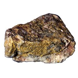 Gold Ore from Vulture Mine, Vulture City, Arizona AZ - Vulture City,Maricopa County - c1940 - 2012au