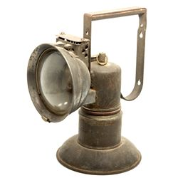 Carbide Miner's Lamp c1900 - 2012aug - Mining Hard goods/Important Mining Publications