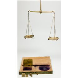 Miner's Pocket  Gold Scale 1850s - 2012aug - Mining Hard goods/Important Mining Publications