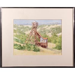 Kennedy Mine Watercolor CA - Jackson,Amador County - 2012aug - Mining Hard goods/Important Mining Pu
