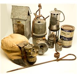 Underground Lighting Collection NV - , - c1910 - 2012aug - Mining Hard goods/Important Mining Public