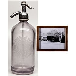 White Pine Soda Co. Seltzer Bottle NV - Ely,White Pine County - c1913 - 2012aug - Nevada Bottles