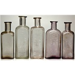 Gold Hill Druggist Bottles Lot NV - Gold Hill,Storey County - c1864 - 2012aug - Nevada Bottles
