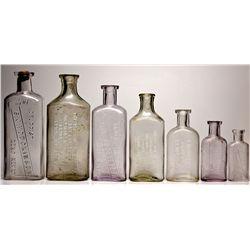 Nevada Drugstore Bottle Group NV - Reno,Washoe County - c1916, 1888-1920 - 2012aug - Nevada Bottles