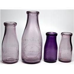 Nevada Milk & Produce Co. Set NV - Reno,Washoe County - 2012aug - Nevada Bottles