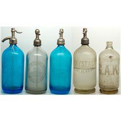 Nevada Seltzer Assortment NV - Reno,Washoe County - c1907-1910 - 2012aug - Nevada Bottles