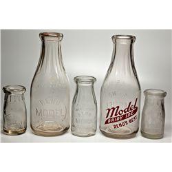 Reno Model Dairy Bottle Collection NV - Reno,Washoe County - c1930 - 2012aug - Nevada Bottles