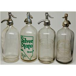 Reno Seltzer Bottle Quartet NV - Reno,Washoe County - c1909 - 2012aug - Nevada Bottles