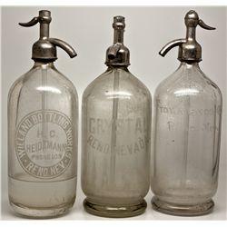 Reno Seltzers NV - Reno,Washoe County - 1915 - 2012aug - Nevada Bottles