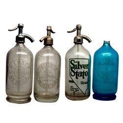 Lovelock & Reno Seltzer Bottle Quartet NV - Reno, Lovelock,Washoe, Pershing Counties - 1917, 1930 -