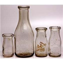 Assorted Dairy Bottles NV - Tonopah,Nye County - c1910-1925 - 2012aug - Nevada Bottles