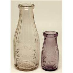 Fine Nevada Milk Bottles NV - Tonopah,Nye County - c1900 - 2012aug - Nevada Bottles