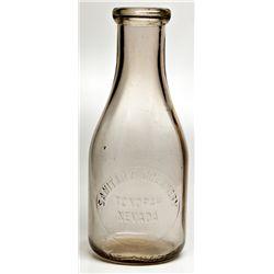 Tonopah Sanitary Milk Bottle NV - Tonopah,Nye County - 2012aug - Nevada Bottles