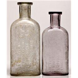 Henry F. Schuldt Drug Bottles NV - Tuscarora,Elko County - 2012aug - Nevada Bottles