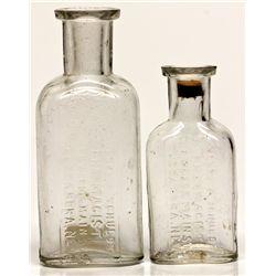 Henry F. Schuldt Small Drug Bottles NV - Tuscarora,Elko County - 2012aug - Nevada Bottles