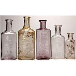 Drugstore Bottle Group NV - Virginia City,Storey County - 1878-1906, 1897-1923 - 2012aug - Nevada Bo
