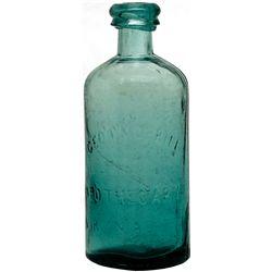 Geo. P Morrill Rare Apothecary Bottle NV - Virginia City,Storey County - c1863-1865 - 2012aug - Neva