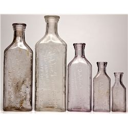 Steptoe Drug Co. Bottle Group NV - White Pine County,1908-1909 - 2012aug - Nevada Bottles