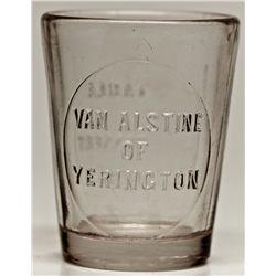 Van Alstine Drug Dose Glass NV - Yerington,Lyon County - c1920 - 2012aug - Nevada Bottles