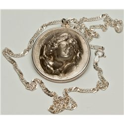 Peace Dollar Punch Out Necklace 2012aug - Numismatic