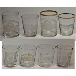 National Brand Whiskey Shot Glasses 2012aug - Saloon